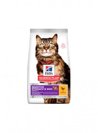 Hill's Gatti alimento per gatti adulti sensitive stomach&skin 1,5 kg