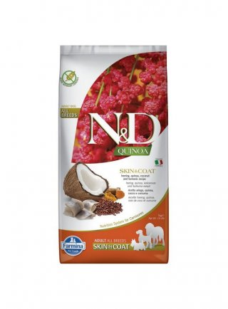 Farmina N&D Quinoa Adult Skin & Coat Aringhe e Curcuma