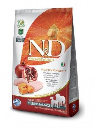 Nd dog zucca medium maxi pollo melograno 12 Kg