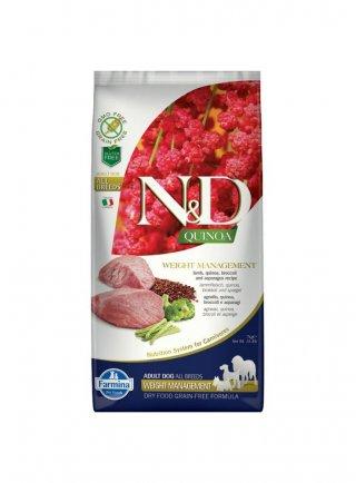 Farmina N&D Weight Management Agnello, Quinoa, Broccoli e Asparagi
