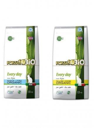 Forza 10 every day organic mangime biologico per gatti pesce e alghe - pollo e alghe