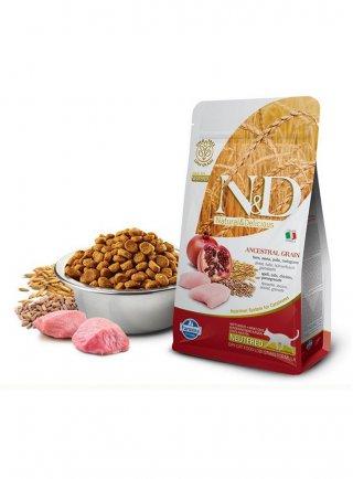 Farmina N&D gatto Ancestral pollo melograno NEUTERED 5Kg