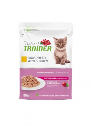 Trainer Natural Kitten&Young buste 12 x 85g