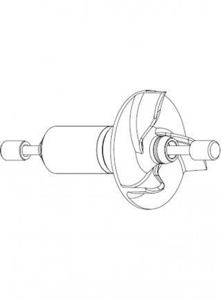 Sicce Ricambio PSK ADV 4000  Rotore con girante ad aghi ed alberino in ceramica
