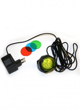 Faretto per laghetto hqa a led con lenti colorate resa 30w