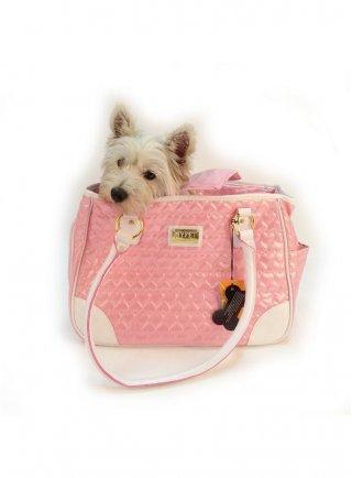 Borsa trasportino per cani e gatti Pink Lady Pettribe