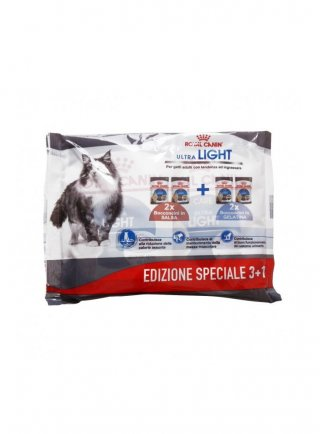 Royal Canin gatto ultra light multipack 3+1 buste da 85gr