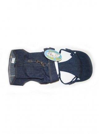 Gillet pettorina con guinzaglio per cani jumper jeans u3