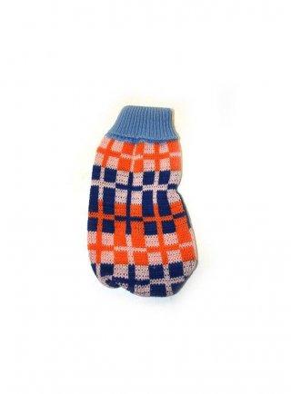 Cappottino per cani jumper cm25 scacchi azzurro arancio blu x23
