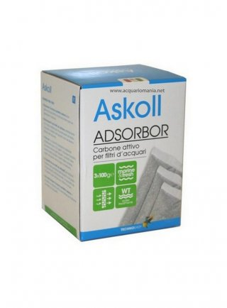 Askoll carbone attivo Adsorbor 3x100gr