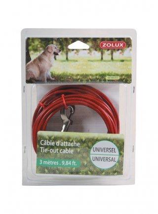 CAVO catena per cani in acciaio Zolux SICUREZZA UNIVERSALE MT.3