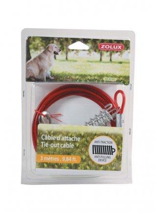 CAVO catena per cani in acciaio Zolux SICUREZZA
