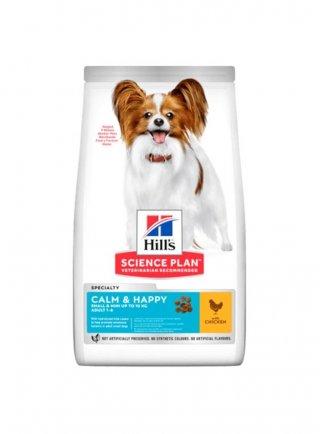 HILL'S Science Plan Canine Adult Small&Mini Calm&Happy Pollo 1.5kg scadenza maggio 2021