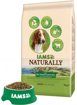 Iams Naturally Dog Adult All Breeds Agnello