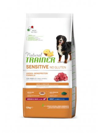 Trainer Sensitive No Gluten Adult medium maxi 12 Kg