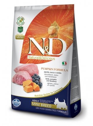 Nd dog zucca mini puppy agnello e mirtillo 7 Kg