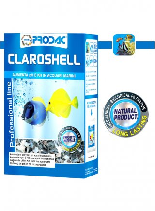 Prodac Claroshell Materiale Filtrante stabilizzatore Ph acquario 1 kg