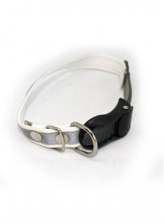 Collare per cani in ecopelle catarifrangente con clip regolabile Degano 30/35/40/45/50/55 cm