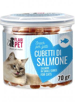 Fairplat Cubetti di Salmone Snack per gatti 70g