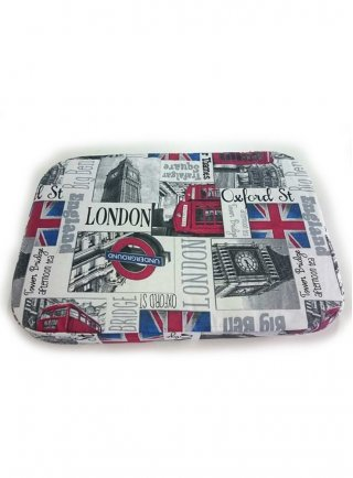 Cuscino sfoderabile per cani London underground