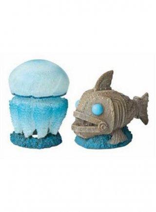 Decorazione pesce+medusa hydor