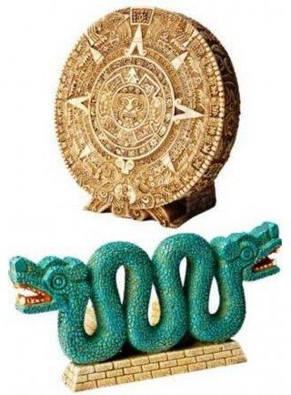 Decorazione snake+calendar antica civiltà