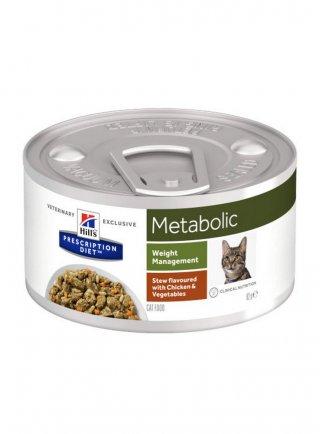 Hill's Prescription Diet Metabolic Verdure e Pollo per Gatti 82g