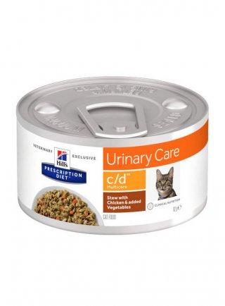 Hill's Prescription Diet c/d Multicare al Pollo e Verdure per Gatti 82gr