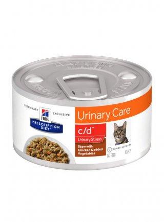 Hill's Prescription Diet c/d Multicare Stress al Pollo e Verdure per Gatti 82gr