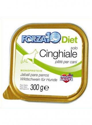 Patè per cane Forza 10 SOLO diet vaschetta cervo tonno cinghiale 300gr