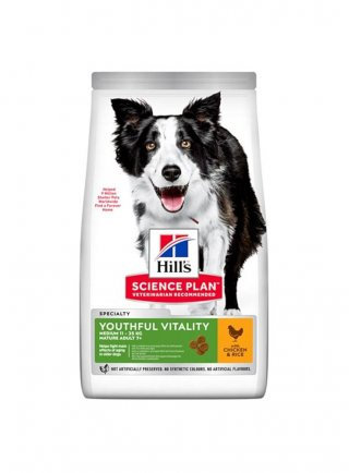 Hill's youthful vitality adult 7+ small large e medium breed