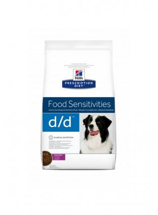 Hill's canine d/d per cani allergici 2 5 12 Kg scatoletta 370 gr