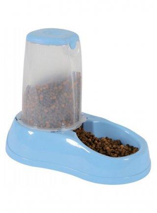 Zolux distributore cibo per cani e gatti verde blu