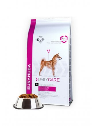 Eukanuba Mangime per Cani Dog Daily Care Adult Sensitive Digestion All Breeds Chicken kg 12,5