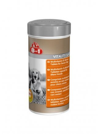 Integratore Multivitaminico per Cani Anziani (75tav - 250ml) 8in