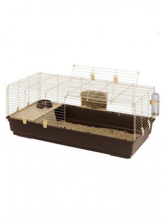 Ferplast gabbia per conigli in materiale ecosostenibile Rabbit 120 Greensun