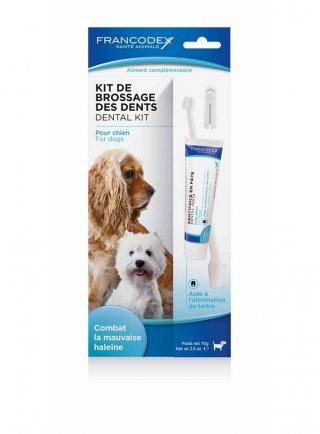 Francodex Kit pulizia denti per cani 70 gr