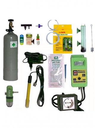 Impianto co2 hqa set bombola ricaricabile e controller ph