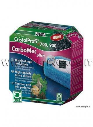 JBL CarboMec ultra Pad ricambio per filtri esterni CP e700/e900 - 2 spugne + carboni attivi