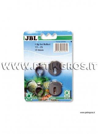 JBL Clips per riflettori con lampade T5 in plastica 2 pezzi
