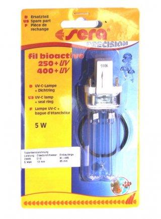 Lampada UV-C + Guarnizione per filtro sera fil bioactive 250+UV