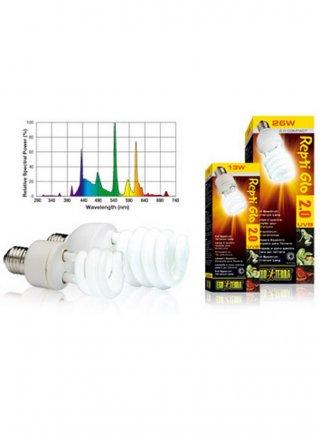 Lampada fluorescente UV Reptil Glo 2.0 compact 13 W