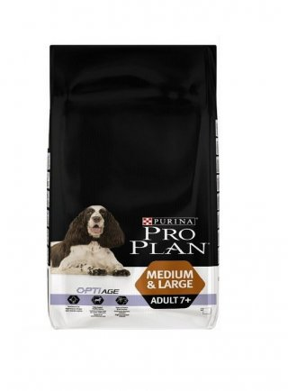 Purina Pro Plan Medium large Adult 7+ Pollo e riso 3 e 14 kg