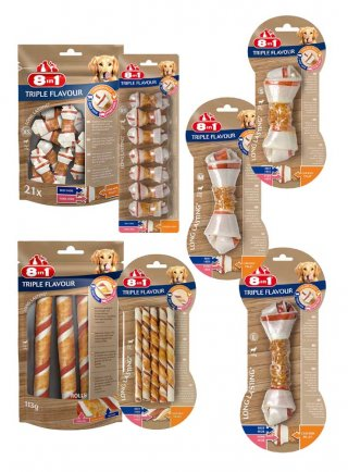 8in1 Snack cane Triple flavour BONE
