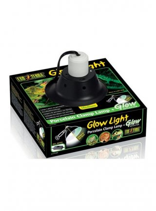 porta lampada con riflettore in porcellana Glow Light M cm 21