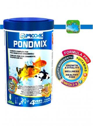 Prodac PondMix Alimento per Pesci di laghetto in scaglie taglia piccola media