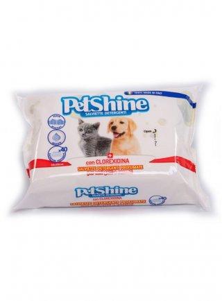 Salviettine detergenti per cani e gatti petshine