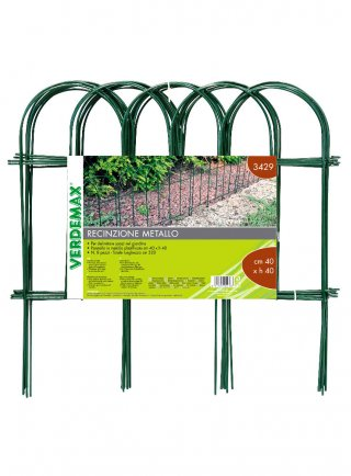 Recinzione in acciaio ad arco per aiuole cm 40xh40 verde