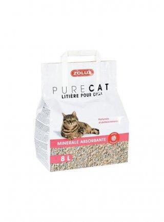 Lettiera per gatti assorbente purecat 8lt