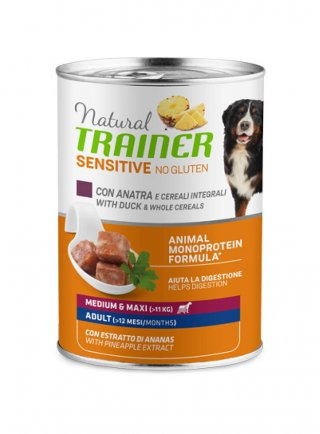 Trainer Sensitive no gluten Adult medium maxi 12 x 400 gr